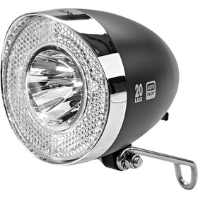 XLC LED Retro Faretto anteriore incl. Riflettore, nero/argento